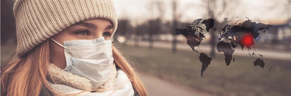 Bild zeigt Frau mit Mundschutz