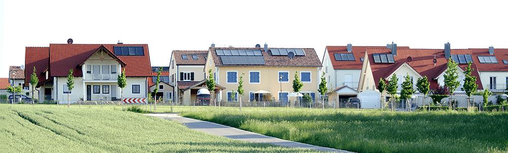 Bild zeigt Neubauten am Stadtrand
